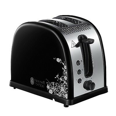 Russell Hobbs 21971-56 Legacy Floral Fast Toast Grille-Pain Noir