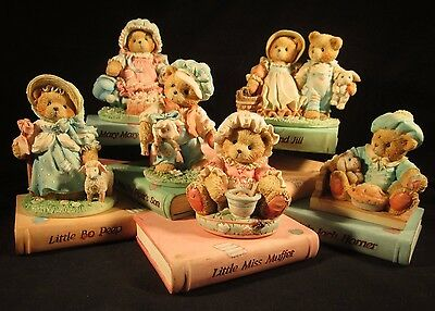 """Cherished Teddies"" ~ Nursery Rhymes Display with Complete Six Bears Collection"