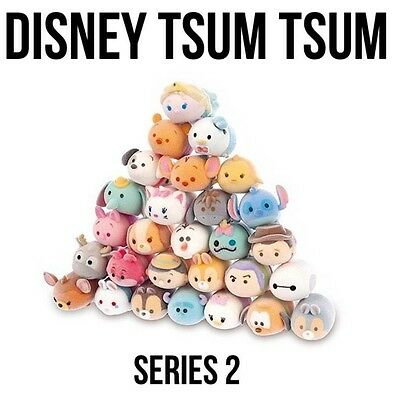 TSUM TSUM DISNEY Series 2  FUZZY FEEL -Choose Figures Inc Rares Combined Postage
