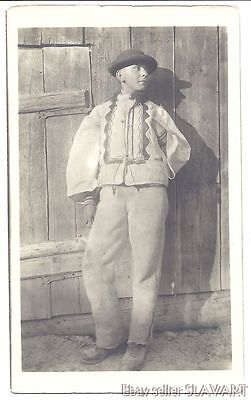 POSTCARD Old Slovak Photograph Karol Plicka Vazec Peasant Boy folk costume vest