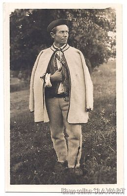POSTCARD Old Slovak Photograph Karol Plicka Helpa Peasant Man folk costume type