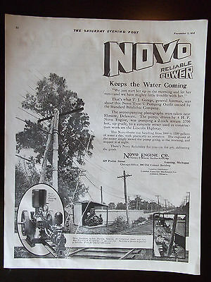 1918 NOVO Type U Pumping Outfit NOVO Engine Co. Reliable Power Advertisement
