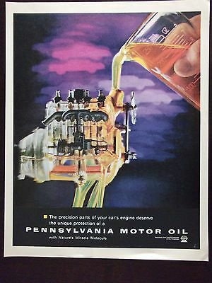 1962 Pennsylvania Motor Oil With Nature's Miracle  Molecule Advertisement