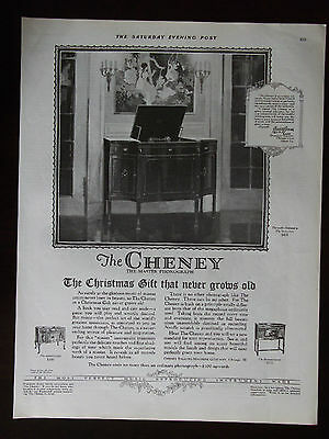 1924 Cheney Master Phonograph 3 Models Shown Advertisement