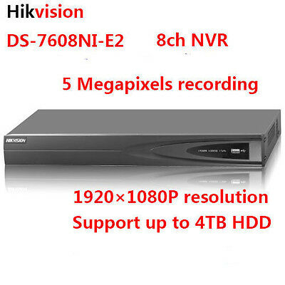 Hikvision DS-7608NI-E2 5MP 8ch Network Video Recorder NVR 2*SATA suppot 4TB HDD