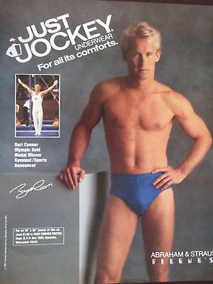 da77b86a3 1988 JUST JOCKEY Underwear Advertisement Featuring Bart Conner ...