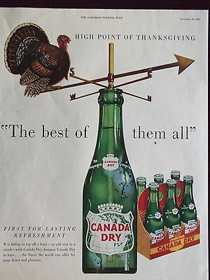 1950 Canada Dry Turkey Compass The Best Of Them All Advertisement