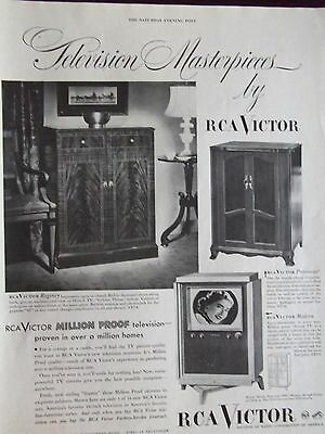 1950 RCA Victor Television Masterpieces 3 Models Shown Advertisement