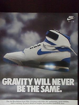 1988 Nike Air Athletic Shoes Gravity Will Never Be The Same Advertisement