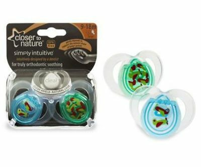 Closer to Nature Two-Pack Dummies Pacifiers 9 - 18 Months - Styled (Blue)