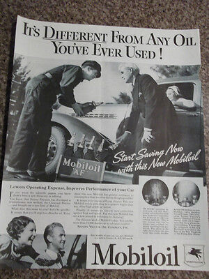 1935 Mobiloil Start Saving Now on the New Mobiloil Advertisement