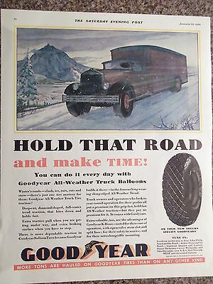 1932 Goodrich Tire Hold That Road And Make Time Advertisement