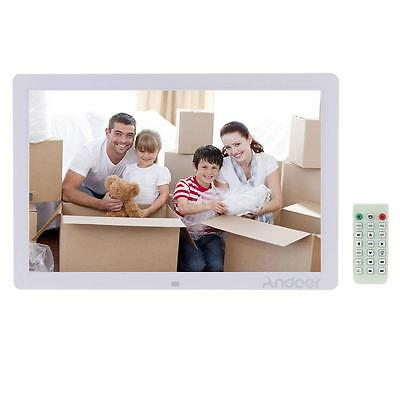 """17"""" LED HD High Resolution Digital Photo Frame MP3/4 + Remote Controller Gift US"""