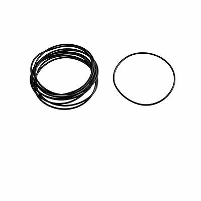 10 Pcs Black Rubber O Ring Oil Filter Seal Gaskets 53mm x 50mm x 1.5mm