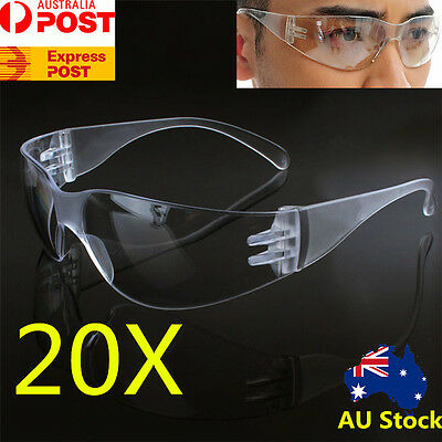 20x Clear Lab Safety Anti Fog Dust Smoke Eye Protective Vented Glasses Goggles