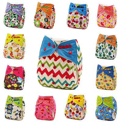 Baby Washable Reusable Waterproof Pocket Nappy Cloth Diaper Cover Wrap