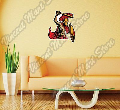 GLADIATOR ROMAN LEGEND WALL STICKER 3D SMASHED EFFECT ROOM DECOR DECAL MURAL YE3