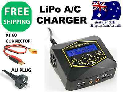 Turnigy Accucell S60 A/C Cell Balancer Charger AU Plug w/ connector LiHV LIPO