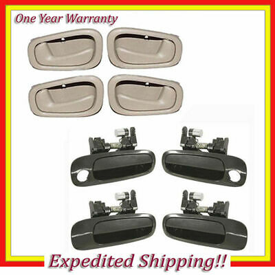 Outside Non Painted + Inside Door Handle Tan 98-2002 Corolla / Prizm Set 8 DS26