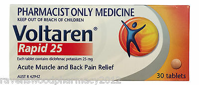 2 x Voltaren Rapid 25mg 30 tabs: Anti-Inflammatory : Muscle and Back Pain Relief