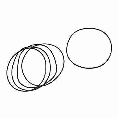 95mm x 91mm x 2mm Rubber Oil Seal O Ring Gasket Washer Black 5Pcs