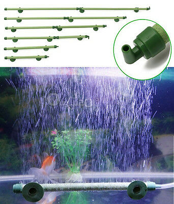 "Green Fish Tank Aquarium Decor Air Stone Bubble Wall Tube 7""10""14""18""23""28"" UK"