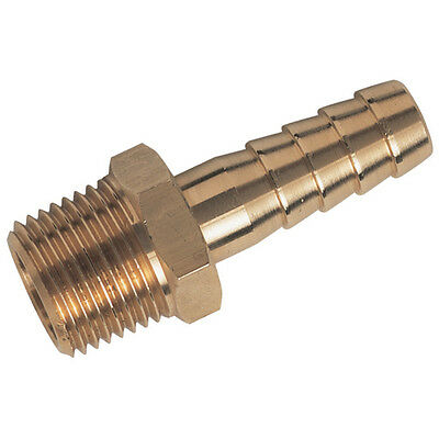 """Air Line Hose Tail Connector 1/2"""" 13mm x1/4bspt Pk of 6"""