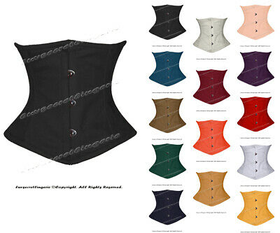 Full Steel Boned Waist Cincher Twill Cotton Underbust Shaper Corset #8079-TC