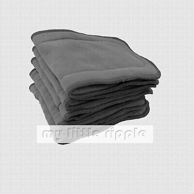 Bulk Pack Extra Thick 5-layer Bamboo Charcoal Nappy Inserts Liners Boosters