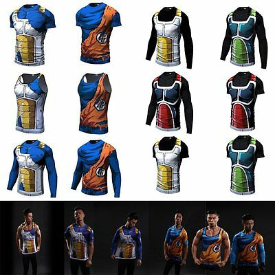Dragon Ball Z Son Goku Men's 3D Vegeta Tank Top Vest Sleeveless Sport Clothes