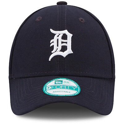 "New Era 9forty Detroit ""D"" Tigers Curve Peak League Navy Adjustable Hat Cap"