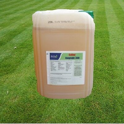 20 L Gallup Biograde Very Strong Professional Glyphosate Weedkiller Like Roundup