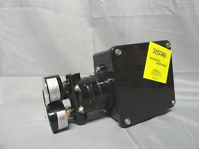 ACTAIRE * PNEUMATIC POSITIONER * w/3 GAUGES (PSI & BAR) ATTACHED * NEW NO BOX