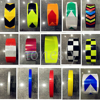 20 Type Car Reflective Safety Warning Conspicuity Tape Film Sticker Multicolor