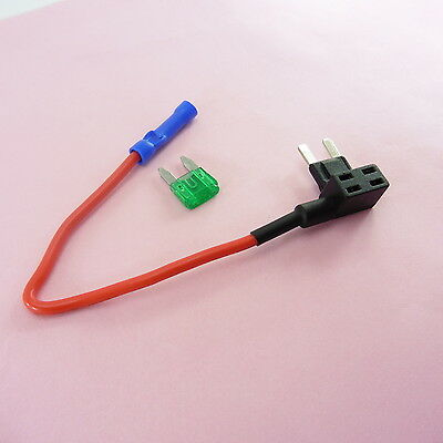 1x-5x ADD a Circuit Mini Fuse Holder Piggy-Back + 1A-40A Fuse 12V 24V Car Motor