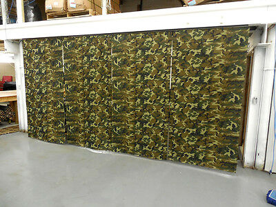"""IN STOCK: Lot of (4) New Economy Woodland Curtain Panel/Partition, 7'6""""H x 3'9""""W"""