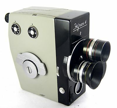 Rare Movie Camera EKRAN 4 2 x 8mm USSR with 3 lens