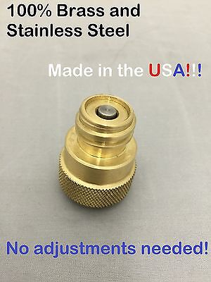 Brass CO2 Adapter for using Paintball canisters for SODASTREAM machines