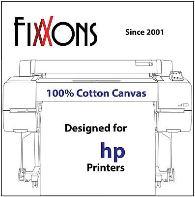 "Ultra Premium 100% Cotton Inkjet Canvas Satin For HP 44"" x 40' Roll"