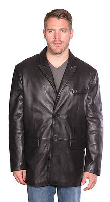 Men's Blazer Butter Soft New-Zealand Lamb Real Leather Classic Style Very Soft