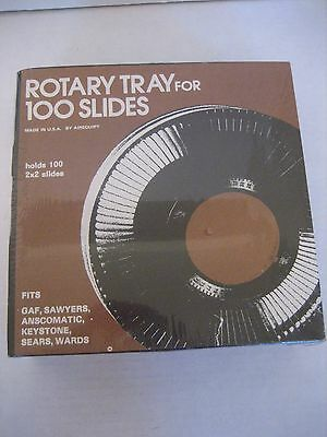 Airequipt Rotary Slide Tray 2x2 Holds 100 Slides New in Package Made in USA