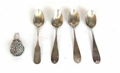 Mixed Lot Of Silver - 4 Spoons and 1 Silver Wing 2.71oz