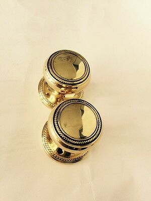 Pair of Vintage Solid Brass Door Knob/Handle,Reclaimed