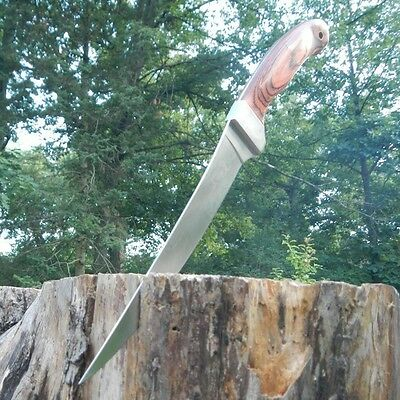"12"" Elk Ridge Wood Full Tang Fish Fishing Filet Fillet Camping Hunting Knife"