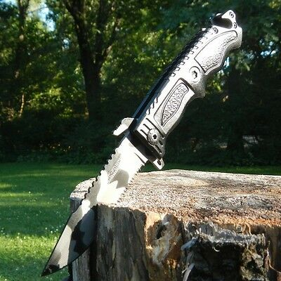 TAC FORCE Rescue URBAN CAMO Glass Breaker SAWBACK Assisted Opening Knife NEW!