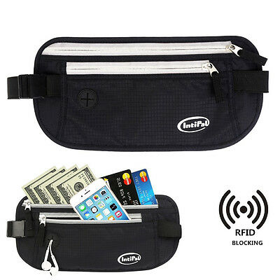 Novelty Travel Money Belt Secure Waist Bag Fanny Pack Phone Pouch RFID Blocking
