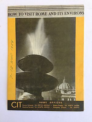 1954 Rome Italy Travel Brochure How To Visit Rome