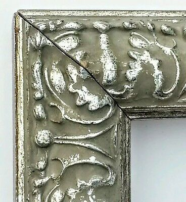 18 ft - Silver Ornate Picture Frame Moulding, Petina Finish