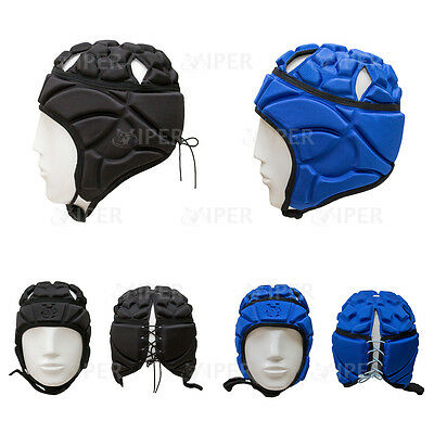 Rugby Headguard Scrum Cap Helmet Head Guard/Gear VIPER RUGBY (FREE SHOE BAG )