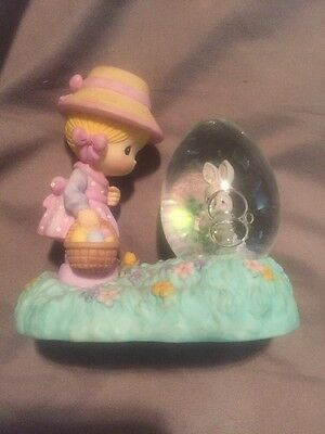 Precious Moments 1997 Easter Girl With Water globe